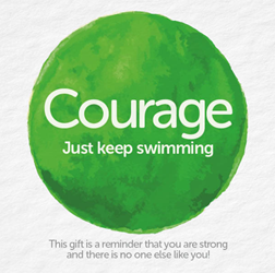 Bead Strong: Courage-Just keep swimming
