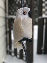 December 2019 Bead of the Month - The Snowy Owl bead reminds you to be proud of whooo you are!