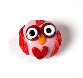February 2021 Bead of the Month - The Lovebird Bead reminds you that love is in the air!