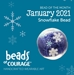 January 2021 Bead of the Month - The Snowflake Bead reminds you that you are one of a kind! - BOM13001