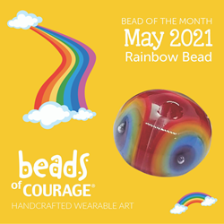 May 2021 Bead of the Month - The Rainbow Bead reminds you to always look on the bright side!