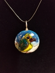 Sassy Bird Bead Pendant-Artist Exclusive 011