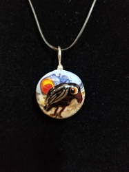 Sassy Bird Bead Pendant-Artist Exclusive 014