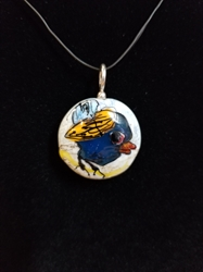 Sassy Bird Bead Pendant-Artist Exclusive 015