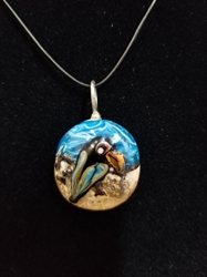 Sassy Bird Bead Pendant-Artist Exclusive 022