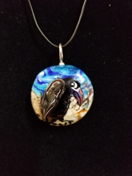 Sassy Bird Bead Pendant-Artist Exclusive 025