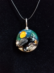 Sassy Bird Bead Pendant-Artist Exclusive 026