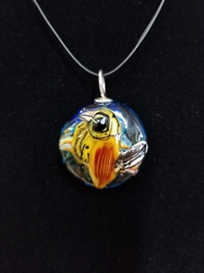Sassy Bird Bead Pendant- Artist Exclusive 003