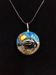 Sassy Bird Bead Pendant-Artist Exclusive 032