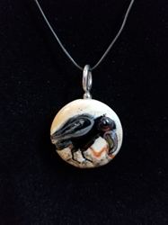 Sassy Bird Bead Pendant-Artist Exclusive 036