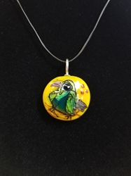 Sassy Bird Bead Pendant-Artist Exclusive 004