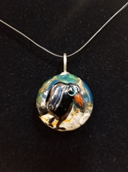 Sassy Bird Bead Pendant-Artist Exclusive 048
