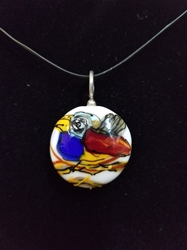 Sassy Bird Bead Pendant-Artist Exclusive 049