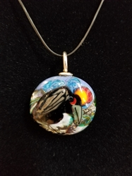 Sassy Bird Bead Pendant-Artist Exclusive 005