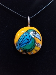 Sassy Bird Bead Pendant-Artist Exclusive 050