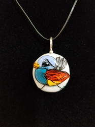 Sassy Bird Bead Pendant-Artist Exclusive 006
