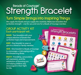 Strength Bracelet Group Activity Kit for 10 Participants