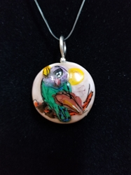 Sassy Bird Bead Pendant-Artist Exclusive 017