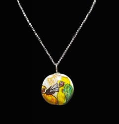 Sassy Bird Bead Pendant - Artist Exclusive 052