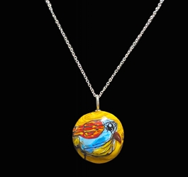 Sassy Bird Bead Pendant - Artist Exclusive 053