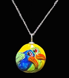 Sassy Bird Bead Pendant - Artist Exclusive 055